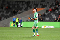 26th May 2021; Bankwest Stadium, Parramatta, New South Wales, Australia; A League Football, Western Sydney Wanderers versus Wellington Phoenix; Oliver Sail of Wellington Phoenix celebrates his team taking a 1-0 lead in the 24th minute