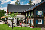 Oesterreich, Tirol, Tannheimer Tal, Haldensee: das DORFCAFE | Austria, Tyrol, Tannheim Valley, Haldensee: the Village Café