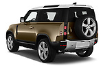 Car pictures of rear three quarter view of 2021 Land Rover Defender First-Edition 5 Door SUV Angular Rear