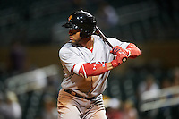 Surprise Saguaros Yoan Moncada (10), of the Boston Red Sox organization, during a game against the Salt River Rafters on October 21, 2016 at Salt River Fields at Talking Stick in Scottsdale, Arizona.  Salt River defeated Surprise 3-2.  (Mike Janes/Four Seam Images)