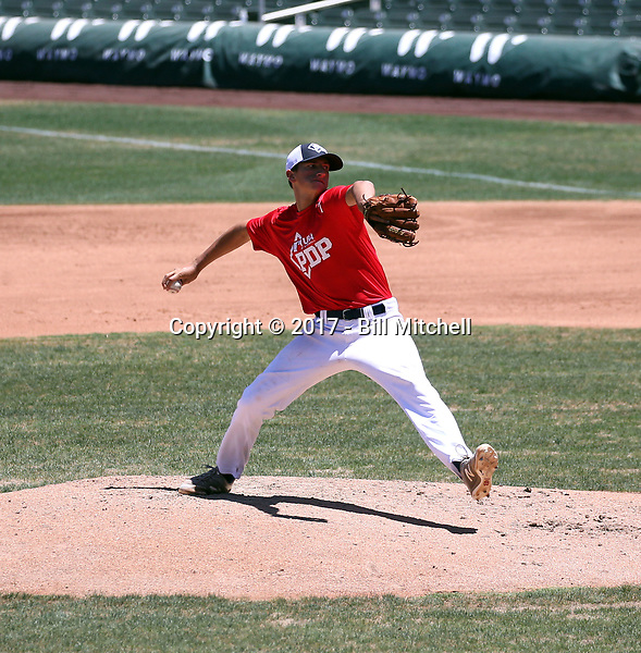 Dutch Landis plays in the MLB / USA Baseball Prospect Development Pipeline game at Salt River Fields on May 25, 2018 in Scottsdale, Arizona (Bill Mitchell)