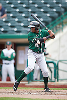 Great Lakes Loons center fielder Deivy Castillo (46) during the second game of a doubleheader against the Fort Wayne TinCaps on May 11, 2016 at Parkview Field in Fort Wayne, Indiana.  Great Lakes defeated Fort Wayne 5-0.  (Mike Janes/Four Seam Images)