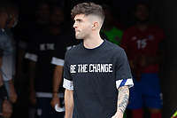 SANDY, UT - JUNE 10: Christian Pulisic #10of the United States warming up during a game between Costa Rica and USMNT at Rio Tinto Stadium on June 10, 2021 in Sandy, Utah.