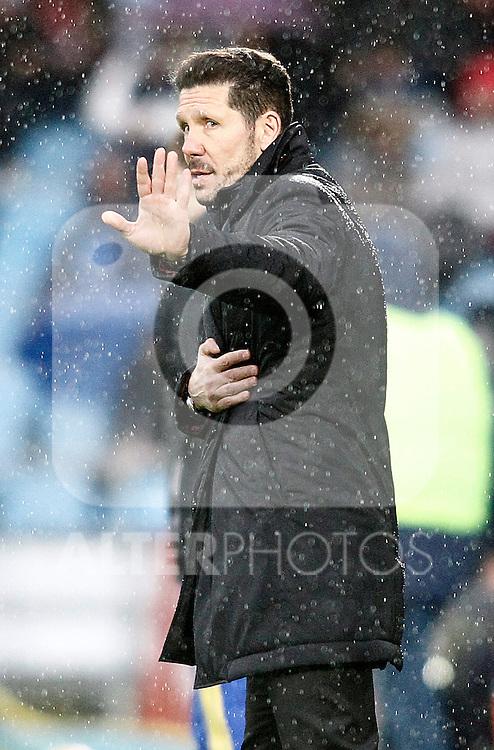 Atletico de Madrid's coach Diego Pablo Simeone during La Liga match. February 14,2016. (ALTERPHOTOS/Acero)