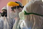 Iraqi Doctors wearing protective gear in Ibn al-Khatib Hospital, where COVID-19 coronavirus patients are treated, in Baghdad, Iraq, on April 2, 2020. Photo by Hassani Al-Asadi