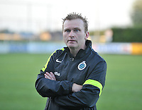 20130830 - VARSENARE , BELGIUM : Brugge's Coach Filip Wydock pictured during the female soccer match between Club Brugge Vrouwen and Ajax Amsterdam Dames , of the first matchday in the BENELEAGUE competition. Friday 30 August 2013. PHOTO DAVID CATRY