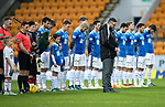 St Johnstone v Hamilton Accies…10.11.18…   McDiarmid Park    SPFL<br />St Johnstone Pastor Reverend Dave Barrie leads the Remembrance Day silence ahead of the game<br />Picture by Graeme Hart. <br />Copyright Perthshire Picture Agency<br />Tel: 01738 623350  Mobile: 07990 594431