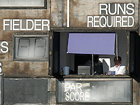 Scoreboard - Ford County Ground, New Writtle Street, Chelmsford, home of Essex County Cricket Club - 24/07/06 - MANDATORY CREDIT: Gavin Ellis/TGSPHOTO. Self-Billing applies where appropriate. NO UNPAID USE. Tel: 0845 094 6026
