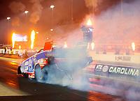 Oct 11, 2019; Concord, NC, USA; NHRA funny car driver Robert Hight during qualifying for the Carolina Nationals at zMax Dragway. Mandatory Credit: Mark J. Rebilas-USA TODAY Sports