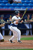 Canisius College Golden Griffins designated hitter Christ Conley (13) at bat during the second game of a doubleheader against the Michigan Wolverines on February 20, 2016 at Tradition Field in St. Lucie, Florida.  Michigan defeated Canisius 3-0.  (Mike Janes/Four Seam Images)