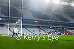 Brian Ó Beaglaoich, Kerry has a shot at goal during the Munster GAA Football Senior Championship Semi-Final match between Cork and Kerry at Páirc Uí Chaoimh in Cork.