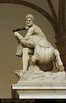 Hercules Beating the Centaur Nessus Giambologna Loggia dei Lanzi Florence