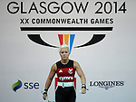 Wales Christie Williams in action during her session <br /> <br /> Photographer Ian Cook/Sportingwales<br /> <br /> 20th Commonwealth Games - Weightlifting -  Day 3 - Saturday 26th July 2014 - Glasgow - UK