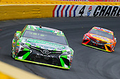Monster Energy NASCAR Cup Series<br /> Bank of America 500<br /> Charlotte Motor Speedway, Concord, NC<br /> Sunday 8 October 2017<br /> Kyle Busch, Joe Gibbs Racing, Interstate Batteries Toyota Camry and Matt Kenseth, Joe Gibbs Racing, Tide Pods Toyota Camry<br /> World Copyright: Russell LaBounty<br /> LAT Images