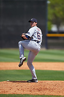 Detroit Tigers pitcher Kyle Dowdy (63) during a minor league Spring Training game against the New York Yankees on March 22, 2017 at the Yankees Complex in Tampa, Florida.  (Mike Janes/Four Seam Images)