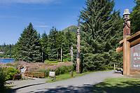 Totem Bight State Historical Site, Ketchikan, Alaska.