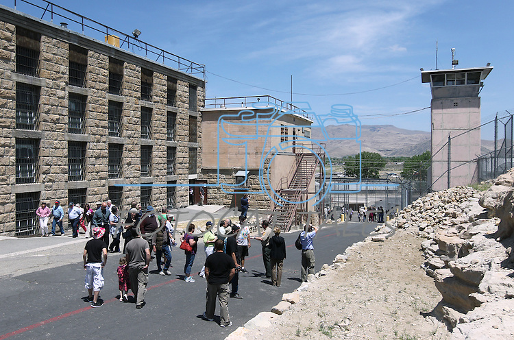 Hundreds of people took guided tours through the 150-year-old Nevada State Prison in Carson City, Nev., following a decommissioning ceremony Friday, May 18, 2012. The execution chambers are at the top of the stairs seen in the center..Photo by Cathleen Allison
