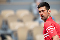 5th June 2021; Roland Garros, Paris France; French Open tennis championships day 7;   Novak DJOKOVIC of Serbia plays against Ricardas BERANKIS of Lituania during the mens singles  the third round