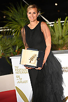 CANNES, FRANCE. July 17, 2021: Julia Ducournau at the photocall for Cannes Awards 2021 at the 74th Festival de Cannes.<br /> Picture: Paul Smith / Featureflash