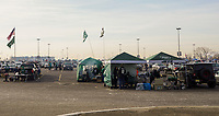 Tailgating der Fans der New York Jets auf dem Parkplatz vor dem Stadion - 08.12.2019: New York Jets vs. Miami Dolphins, MetLife Stadium New York