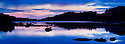 Loch a' Chumhainn at midnight, Isle of Mull, Scotland. June. Stitched Panorama.