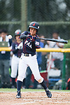 #52 Yoshii Harue of Japan bats during the BFA Women's Baseball Asian Cup match between South Korea and Japan at Sai Tso Wan Recreation Ground on September 2, 2017 in Hong Kong. Photo by Marcio Rodrigo Machado / Power Sport Images