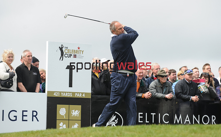 England's Sir Steve Redgrave hits his tee shot off the 1st ..Celebrity Cup at Golf Live  - Celtic Manor Resort - Friday 10th  May  2013 - Newport ..© www.sportingwales.com- PLEASE CREDIT IAN COOK