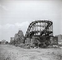 Abandoned Coney Island roller coaster<br />