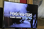 during the press conference for the Foo Fighters in Slane Castle on Thursday 21st May 2015.<br /> Picture:  Thos Caffrey / www.newsfile.ie