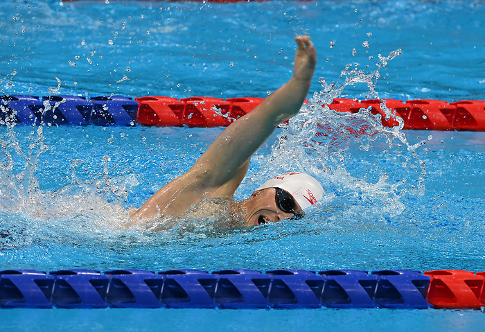 Zach Zona, Tokyo 2020 - Para Swimming // Paranatation.<br /> Zach Zona competes in the 400m Freestyle - S8 // Zach Zona participe au 400m nage libre - S8. 08/30/2021.