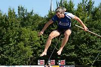 FIERLJEPPEN: WINSUM: 04-09-2021, FK Fierljeppen, Ysbrand Galama 20.32 meter, ©foto Martin de Jong