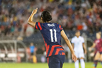 EAST HARTFORD, CT - JULY 1: Christen Press gives a thumbs up during a game between Mexico and USWNT at Rentschler Field on July 1, 2021 in East Hartford, Connecticut.