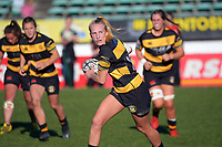 Taranaki's Chloe Sampson looks to pass during the Farah Palmer Cup women's rugby match between Manawatu Cyclones and Taranaki Whio at CET Stadium in Palmerston North, New Zealand on Saturday, 24 July 2021 Photo: Dave Lintott / lintottphoto.co.nz