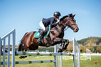 NZL-Lucy Hill rides Mt Tulloch Encore. Class 26: Pony 1.05m Ranking Class. 2021 NZL-Easter Jumping Festival presented by McIntosh Global Equestrian and Equestrian Entries. NEC Taupo. Saturday 3 April. Copyright Photo: Libby Law Photography