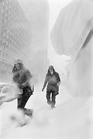 ARCHIVE -<br /> <br /> Neige a Montreal, dans les annees 70<br />  , date inconnue<br /> <br /> Photo : Agence Quebec Presse  - Alain Renaud