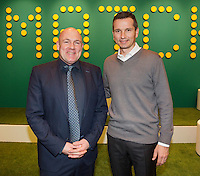 Februari 13, 2015, Netherlands, Rotterdam, Ahoy, ABN AMRO World Tennis Tournament, Richard Krajicek (NED) next to Andre Kuipers<br /> Photo: Tennisimages/Henk Koster