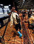 Team Pokerstars Pro Arnaud Mattern broke his leg recently and had to compete in the main event with a cast.