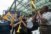 PCS members employed by BEIs walk out on strike. 15-7-19