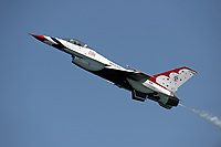FORT LAUDERDALE, FLORIDA - MAY 06: The United States Air Force Thunderbirds practice over Fort Lauderdale Beach prior to the Fort Lauderdale Air Show on May 6, 2016 in Fort Lauderdale, Florida. <br /> <br /> People:  Air Force Thunderbirds