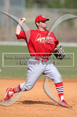 March 19, 2010:  Third Baseman Richard Racobaldo of the St. Louis Cardinals organization during Spring Training at the Roger Dean Stadium Complex in Jupiter, FL.  Photo By Mike Janes/Four Seam Images