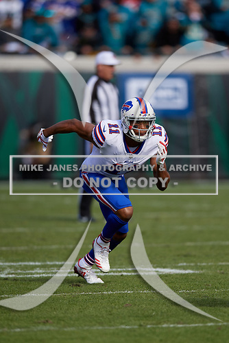 Buffalo Bills wide receiver Zay Jones (11) during an NFL Wild-Card football game against the Jacksonville Jaguars, Sunday, January 7, 2018, in Jacksonville, Fla.  (Mike Janes Photography)