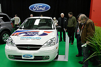 Montreal's AUTO SHOW 2007 feature many Electric  cars such as the Hydrogen Fuel cell Ford Focus 2007.<br /> <br /> <br /> <br /> photo :  Images Distribution