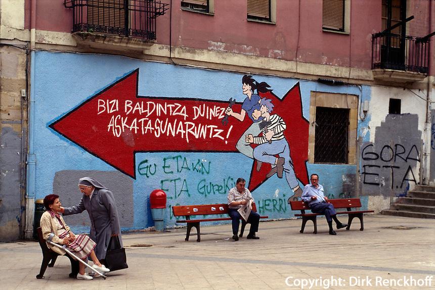 Wandbilder, Bilbao La Vieja,  Baskenlan, Spanien