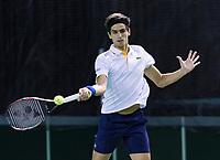Rotterdam, Netherlands, 10 februari, 2018, Ahoy, Tennis, ABNAMROWTT, Qalifying, Pierre-Hugues Herbert <br /> Photo: Henk Koster/tennisimages.com