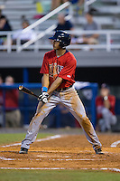 LaMonte Wade (26) of the Elizabethton Twins at bat against the Kingsport Mets at Hunter Wright Stadium on July 8, 2015 in Kingsport, Tennessee.  The Mets defeated the Twins 8-2. (Brian Westerholt/Four Seam Images)