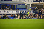 Everton 3 Larissa 1, 25/10/2007. Goodison Park, Europa League Group A. Larissa manager Georgios Donis prowling the touchline as his side take on Everton at Goodison Park, Liverpool in their UEFA Cup Group A match. Everton beat the Greek team by three goals to one on the opening night of group matches in the UEFA Cup. It was the first meeting between the two clubs. Photo by Colin McPherson.
