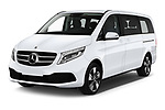 2020 Mercedes Benz V-class Avantgarde 5 Door Mini Van angular front stock photos of front three quarter view