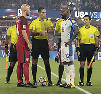 Orlando, FL - Friday Oct. 06, 2017: Michael Bradley, Felipe Baloy during a 2018 FIFA World Cup Qualifier between the men's national teams of the United States (USA) and Panama (PAN) at Orlando City Stadium.