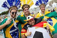 Germany and Brazil fans in fancy dress