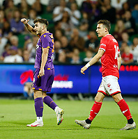18th April 2021; HBF Park, Perth, Western Australia, Australia; A League Football, Perth Glory versus Wellington Phoenix; Carlo Armiento of the Perth Glory gives the thumbs up after a cross into the box that he nearly scored from